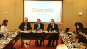 Press conference of Barceló Hotel Group at the Barceló Torre de Madrid hotel